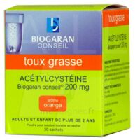 Acetylcysteine Biogaran Conseil 200 Mg Pdr Sol Buv En Sachet B/20 à BOUILLARGUES