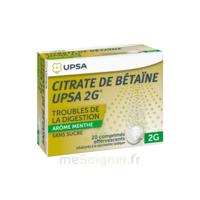 Citrate De Bétaïne Upsa 2 G Comprimés Effervescents Sans Sucre Menthe édulcoré à La Saccharine Sodique T/20 à BOUILLARGUES