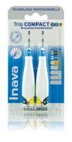 Inava Brossettes Tri Compact étroit  012 Noir 0,6mm/ Bleu 0,8mm/ Jaune 1mm à BOUILLARGUES