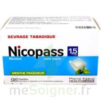 Nicopass 1,5 Mg Pastille Sans Sucre Menthe Fraîcheur Plq/96 à BOUILLARGUES