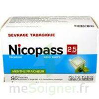 Nicopass 2,5 Mg Pastille Menthe Fraîcheur Sans Sucre Plq/96 à BOUILLARGUES