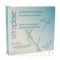Tetraplaie Pansement Adhésif Stérile 5x7,2cm Pochette/10 à BOUILLARGUES