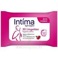 Intima Gyn'expert Lingettes Cranberry Paquet/30 à BOUILLARGUES