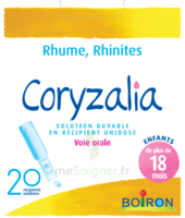 Boiron Coryzalia Solution Buvable Unidose B/20 à BOUILLARGUES